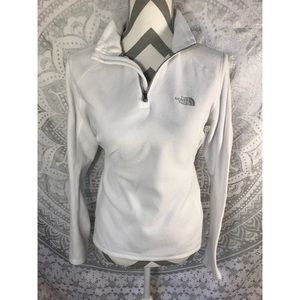 The North face white 1/4 pullover sweater